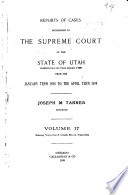 Reports of Cases Decided in the Supreme Court of the State of Utah
