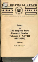 Index to the Emporia State Research Studies, Volumes I-XXVIII (1952-1980)