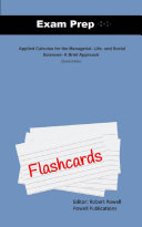 Exam Prep Flash Cards for Applied Calculus for the