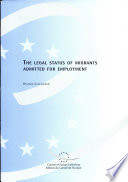 The Legal Status Of Migrants Admitted For Employment Book