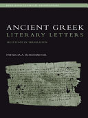 Ancient Greek Literary Letters