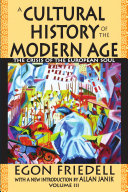 A Cultural History of the Modern Age Vol. 3
