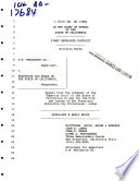 California. Court of Appeal (1st Appellate District). Records and Briefs