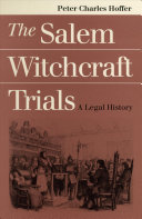 The Salem Witchcraft Trials Book
