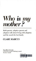 Who is My Mother  Book PDF