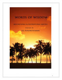 Pdf Words of Wisdom (Volume 34) Telecharger