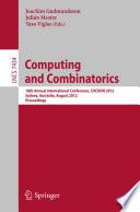Computing And Combinatorics Book PDF
