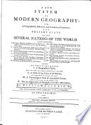 A New System Of Modern Geography