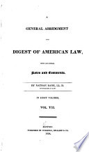 A General Abridgment and Digest of American Law