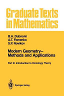 Modern Geometry—Methods and Applications