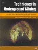 Techniques in Underground Mining