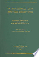 International Law and the Great War