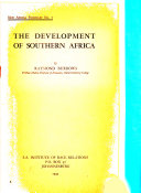New Africa Pamphlet s    The development of southern Africa