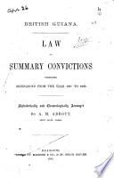 Law of Summary Convictions (British Guiana)