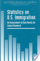Statistics on U S  Immigration Book