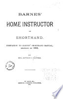 Barnes Home Instructor In Shorthand