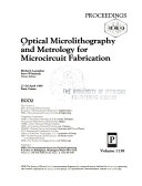 Optical Microlithography And Metrology For Microcircuit Fabrication