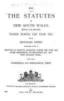 The Statutes of New South Wales  public and Private