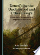 Describing the Unobserved and Other Essays