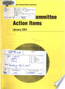 Finance Committee Action Items