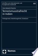 Terrorismusstrafrecht in Indien