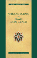 Pdf American Journal of Islamic Social Sciences