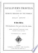 Gulliver s Travels into several remote regions of the world      A new edition  With explanatory notes and a life of the author  by J  F  Waller  Illustrated by T  Morten