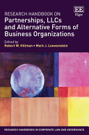Research Handbook on Partnerships, LLCs and Alternative Forms of Business Organizations