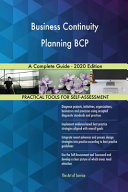 Business Continuity Planning BCP A Complete Guide   2020 Edition Book