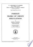 Foreign Marks of Origin Regulations