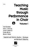 Teaching Music Through Performance in Choir Book