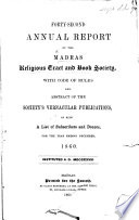 Forty-second Annual Report of the Madras Religious Tract and Book Society