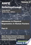 Advances in Physical Ergonomics and Human Factors  Part II