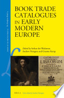 Book Trade Catalogues in Early Modern Europe