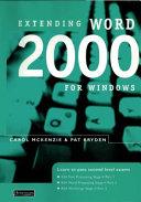 Extending Word 2000 for Windows