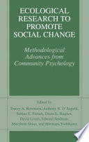 Ecological Research To Promote Social Change PDF