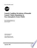 Launch Condition Deviations of Reusable Launch Vehicle Simulations in Exo-Atmospheric Zoom Climbs