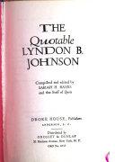 The Quotable Lyndon B  Johnson