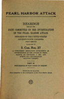 Pearl Harbor Attack  Proceedings of Navy Court of Inquiry