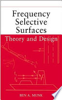 Frequency Selective Surfaces Book