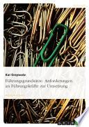 fhrungsgrundstze anforderungen an fhrungskrfte zur umsetzung kai grzywatz limited preview 2005 - Fhrungsgrundstze Beispiele