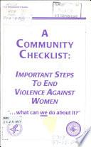 A Community Checklist