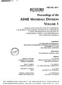 Proceedings of the ASME Materials Division Book