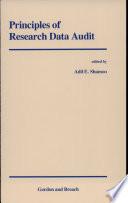 Principles of Research Data Audit