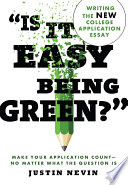 Is It Easy Being Green