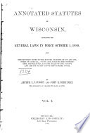 Annotated Statutes Of Wisconsin