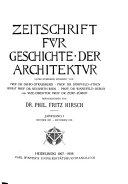 Zeitschrift für Geschichte der Architektur