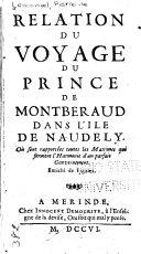 Relation du voyage du prince de Montberaud dans l'ile de Naudely