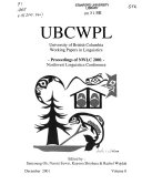 University of British Columbia Working Papers in Linguistics