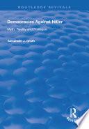 Democracies Against Hitler Book